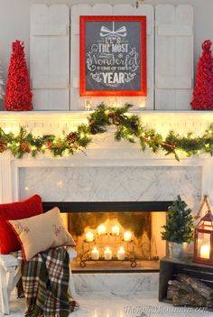 Decorate your mantle for the holidays.