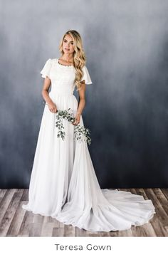 Modest Wedding Dresses With Sleeves, How To Dress For A Wedding, Western Wedding Dresses, Perfect Wedding Dress, Modest Dresses, Designer Wedding Dresses, Bridal Dresses, Bridesmaid Dresses, Prom Dresses