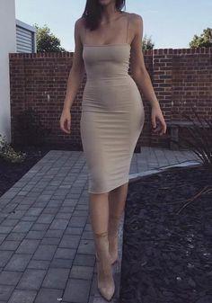 Available Sizes : S;M Bust(cm) : Length(cm) : Type : Slim Material : Cotton Blend Color : Khaki Decoration : Condole Belt Pattern : Plain Collar : Collarless Length Style : Above Knee Sleeve Length : Sleeveless Cheap Dresses, Elegant Dresses, Sexy Dresses, Dresses Dresses, Hot Dress, Dress Skirt, Kardashian, Little Girl Leggings, Curvy Women Fashion