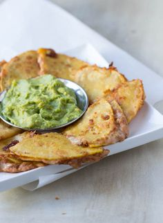 Spicy Bean and Cheese Quesadillas with fresh guacamole for the perfect #superbowl snack