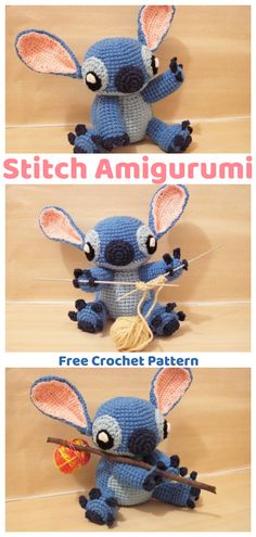 Stitch is one of the most popular Disney figures and now you can make your own Stitch Amigurumi with this free crochet pattern. #stitch #ad #amigurumi #pattern