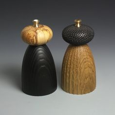 Salt and Pepper Mills  Oak and Ash Grinders READY TO by lokimonkey