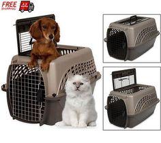 Petmate Pet Kennel Crate Carrier Portable Travel Dog Cat House Top Handle 2 Door
