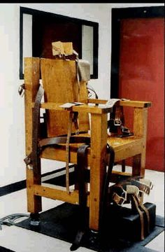 This is an electric chair that would be used to execute Jefferson. Jefferson was falsely accused of something he didn't do because of his skin color.