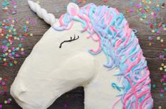 Pull apart unicorn cake - can be shaped as anything. Great idea for kids parties