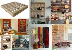 I have an obsession with wooden pallets so, yeah. 35 Creative Ways To Recycle Wooden Pallets Wooden Pallet Crafts, Diy Pallet Projects, Wooden Pallets, Home Projects, Pallet Ideas, Ideas Palets, Pallet Designs, Recycled Furniture, Pallet Furniture