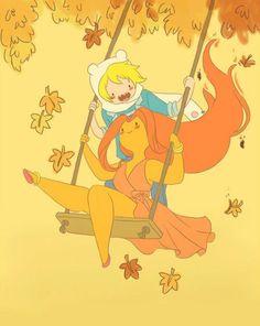 fin y la princesa flama