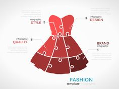Fashion template with dress symbol