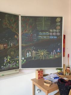 Waldorf Education, Kids Education, Chalk Art, Grade 1, Hamilton, Art Quotes, Alphabet, Classroom, Study