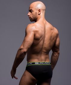 Sean Zevran, fitness model by Andrew Christian: Black Collection Brief.