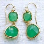Gold and green jewellery - earrings via mylusciouslife