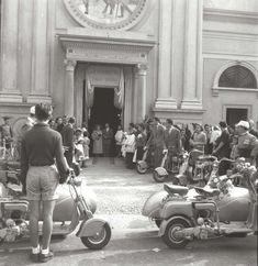 ascinating Vintage Photos of a Lambretta Wedding Ride in Milan, 1949
