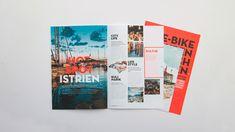 ✨ Die Visit HotSpots-Broschüre für E-Bike-Touren durch Istrien besticht durch unterschiedliche Formate in einem Magazin! 💎 #nicetomoveyou #print #printdesign #editorialdesign #grafikdesign #visithotspots #branding #travelagency #agency #agencylife #werbeagentur Editorial Design, Grafik Design, Brochure Design, Gallery, Projects, Behance, Search, Art, Make A Donation