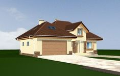 Projekt domu Maja 3 Square House Plans, House Floor Plans, Construction, Home Fashion, Building A House, Shed, Outdoor Structures, Cabin, Flooring
