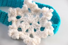 Frozen inspired Newborn Snowflake Headband-winter accessory-photo prop by EverythingPrecious on Etsy