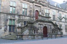 Leiden, Zuid-Holland, Netherlands. Town hall, at Breestraat, old main entrance.