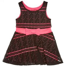 Black & Pink Cut Out Dress (2T-4T)
