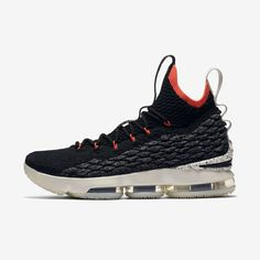 Men s Nike LeBron 15 Black Sail Bright Crimson Black  nike  nikeshoes 27fb22fc9