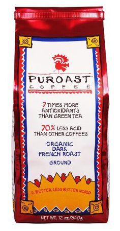 Puroast Low Acid Coffee Organic French Roast Ground Coffee, 12 Ounce Bag - http://goodvibeorganics.com/puroast-low-acid-coffee-organic-french-roast-ground-coffee-12-ounce-bag/