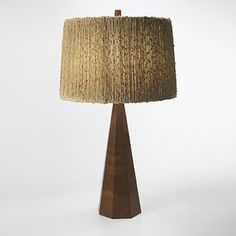 Phillip Lloyd Powell, Walnut Table Lamp, c1965.