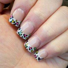 Cheetah Nail Designs French