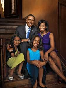 The Obamas! Beautiful, Black, First Family of the United States of America!