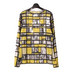 In 2016 the new fashion geometric fight color rework nail beads perspective yarn shirt