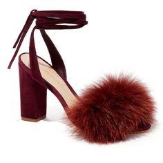 Loeffler Randall 'Nicolette' burgundy block heel sandal | pinterest: @Blancazh