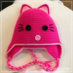 The Daily Knitter & Crocheter: How to crochet - cat hat - step by step - instruct...