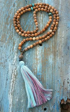 Beautiful faceted jasper gemstone mala necklace by look4treasures