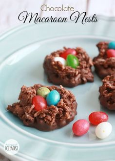 ... coconut and chocolate, topped with festive jelly beans for eggs. Cute