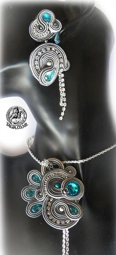 Soutache set in Grey by caricatalia on DeviantArt