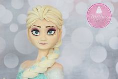 Awesome cakes and cupcakes inspired by the hit Disney movie Frozen Disney Frozen Cake, Disney Cakes, Disney Gefroren, Princess Disney, Cupcakes, Cupcake Cakes, Fondant Cakes, Torte Frozen, Movie Cakes