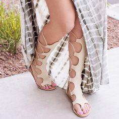 4b2b9832fe4 Paulina Gladiator Sandals - Ivory