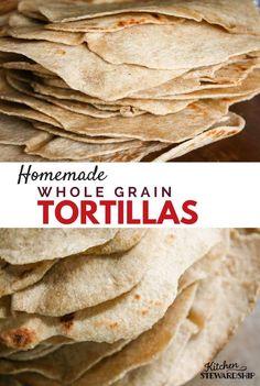 Homemade whole grain tortillas