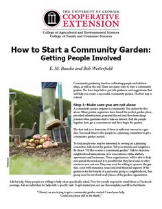 How to Start a Community Garden: Getting People Involved    University of Georgia Extension publication