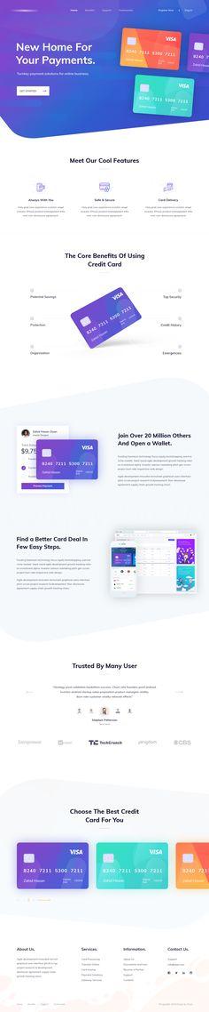 Credit card landing page design