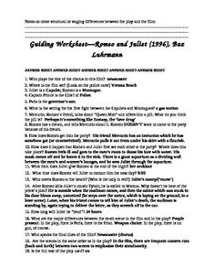 English worksheet: Romeo and Juliet - the newspaper article! key ...