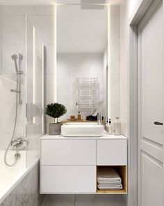 Decor, Furniture, Bathroom Lighting, Double Vanity, Vanity, Lighted Bathroom Mirror, Home Decor, Bathroom Mirror, Bathroom Vanity