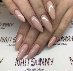 Nail Shapes - My Cool Nail Designs Classy Nails, Stylish Nails, Trendy Nails, Pink Nails, My Nails, Acrylic Nails Almond Short, Gel Nails Shape, Acrylic Nail Shapes, Classy Nail Designs