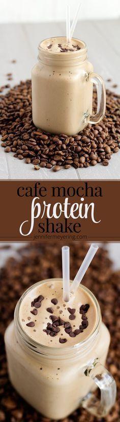 Cafe Mocha Protein Shake - http://JenniferMeyering.com