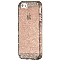 Women's Speck 'Candyshell' Iphone 5, 5S & Se Case (140 RON) ❤ liked on Polyvore featuring accessories, tech accessories, onyx gold glitter, glitter iphone case, speck iphone cases, apple iphone cases, iphone cases and slim iphone case