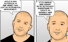 In today's Sunday Comic, The Joy of Tech see a few gaps in Apple designer Sir Jony's armor. So does this fly.