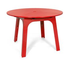 Alfresco Round Patio Table from Loll Designs. Made from recycled plastic and available in 10 colors.