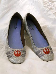 Rebel Alliance Star Wars Glitter Shoes by Catherine Gretschel.