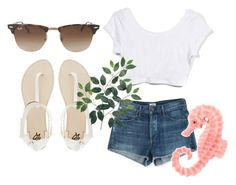 """Summer Outfit"" by ohkally ❤ liked on Polyvore featuring Citizens of Humanity, Ray-Ban and 2b bebe"