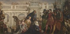 Paolo Veronese | The Family of Darius before Alexander | 1565 - 1570 | It depicts Alexander the Great with the family of Darius III, the Persian king he had defeated in battle.
