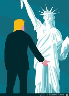 First, this pin was not posted because it's funny. If you are offended by it, just remember that this cartoon depicts what Trump said to Billy Bush that was caught on tape. Trump says he can do this to every woman he encounters because he is famous, and he just can't control himself. If you voted for him, you lost your right to complain about this offensive picture.