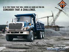 #Workstar Workstar, es el camión más rudo de International ya que está diseñado para realizar todo tipo de trabajos pesados, WorkStar es lo suficientemente versátil como para ser parte clave de tu negocio. Si estas involucrado en la construcción, recolección de residuos, aplicaciones municipales, servicios públicos o un sinnúmero de otros servicios, este camión puede optimizarse para hacer el trabajo, incluso en los ambientes o condiciones más difíciles…