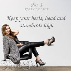 A fun loving wall quote decal to remind you every day of this essential rule. Perfect for woman's closet, vanity, shoe boutique, lady's room or anywhere women need a little light hearted encouragement. Lady Rules, Closet Vanity, Vanity Area, Womens Closet, Typography, Lettering, Shoe Boutique, Fun Loving, Letter Wall